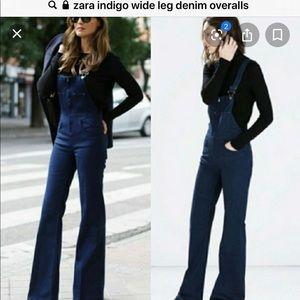 GUC Gorgeous Zara Indigo denim zipper Overalls M